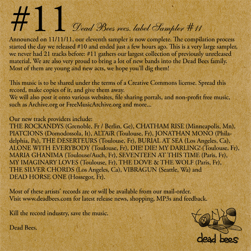 Dix: Dead Bees records label sampler 10